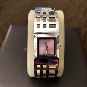 Burberry women's bangle stainless steel watch